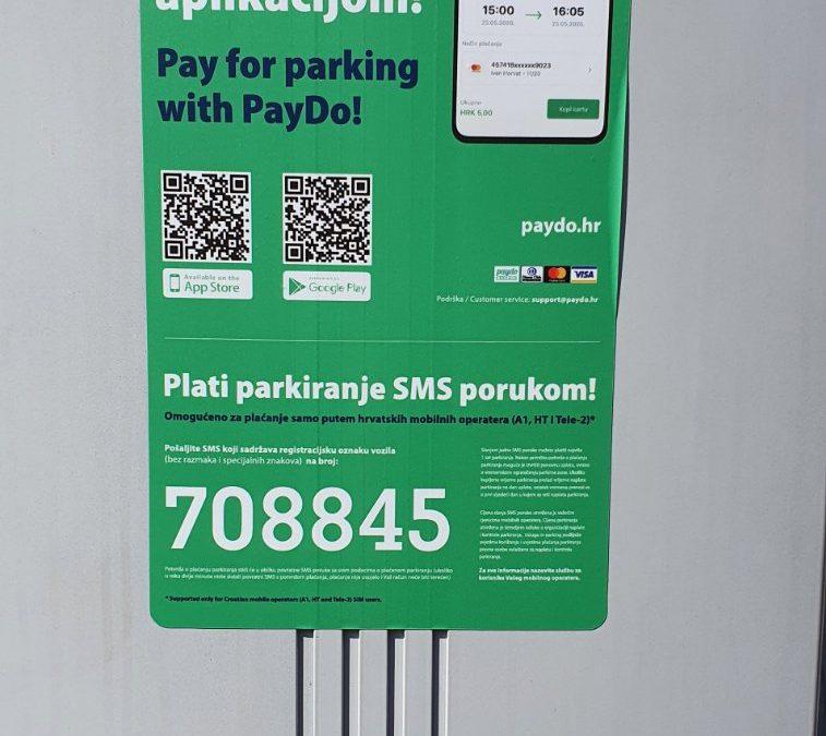 Naplata parkinga PayDo aplikacijom